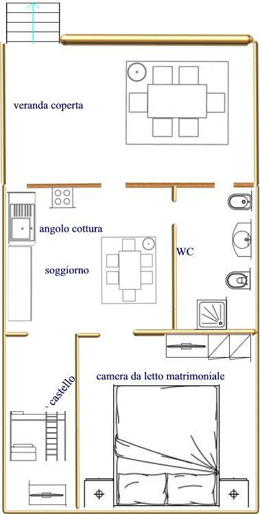 Piantina appartamentini dal n° 3 al n° 8