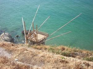 Trabucchi del gargano, vecchi arnese da pesca